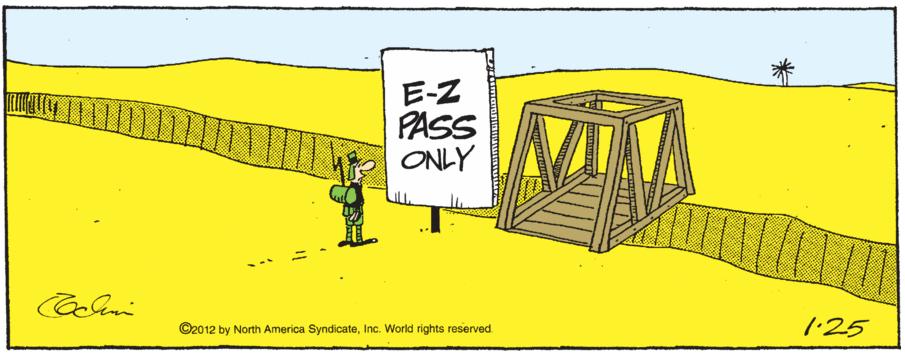 E-Z pass only